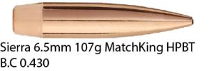 Sierra 6,5mm 107gr MatchKing HPBT